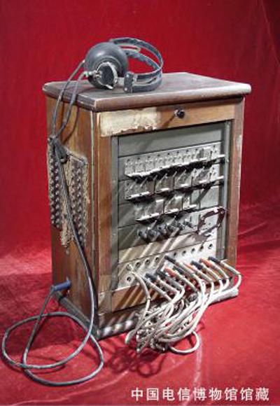 磁石电话交换机上装有用户塞孔