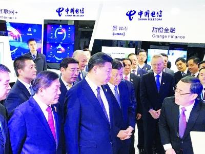 当介绍到中国电信利用网络